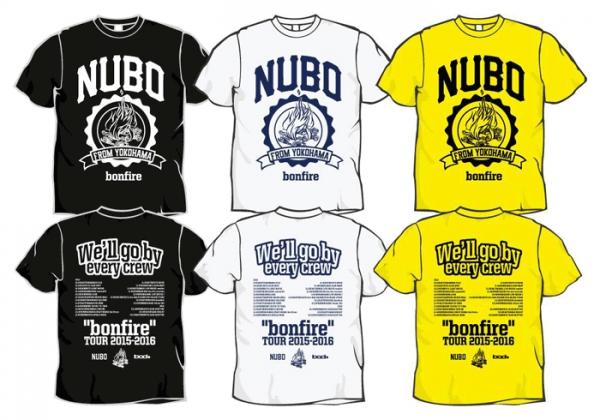 "NUBO ""bonfire"" TOUR 2015-2016 Tシャツ"