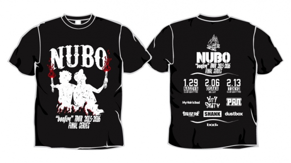 """NUBO """"bonfire"""" TOUR 2015-2016 FINAL SERIES Tシャツ"""