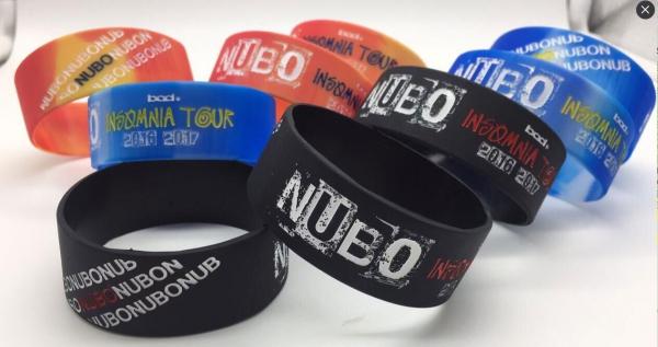 """NUBO""""インソムニア""""TOUR 2016-2017 シリコンバンド"""