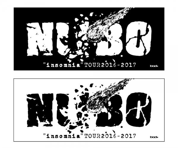 """NUBO""""インソムニア""""TOUR 2016-2017 タオル"""