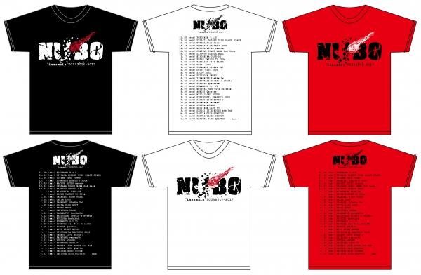 """NUBO""""インソムニア""""TOUR 2016-2017 Tシャツ"""