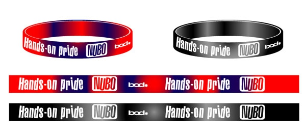 NUBO Hands-on pride シリコンバンド