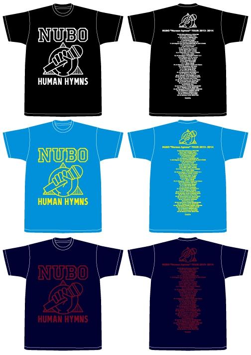"""NUBO""""Human hymns""""TOUR 2013-2014 Tシャツ"""