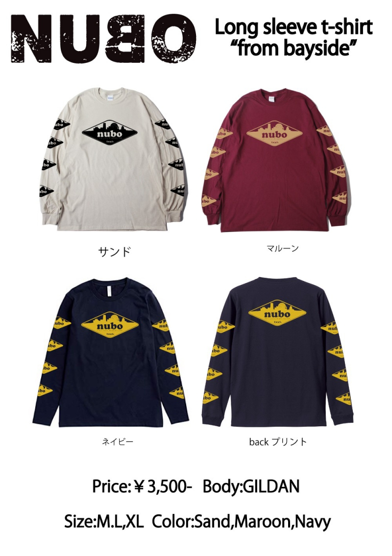 【NEW GOODS発表!】Long sleeve t-shirtsです!1596815285